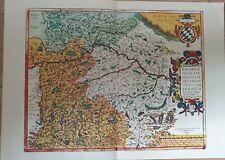 Landkarte map: Bavariae, Olim Vindeliciae Altbayern mit bayerischem Wappen