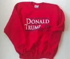 RARE! 2016 Donald Trump I HAD A DREAM 'Hillary Behind Bars' Large Red Sweatshirt