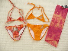 NEUF LOT 2 MAILLOTS DE BAIN 2 PIECES + PAREO  DDP   10  ANS BNWT SWIM SUIT