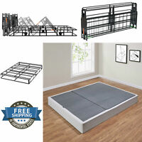 """Folding Box Spring Metal Portable w/ Cover Twin Full Queen King Size Sturdy 7.5"""""""