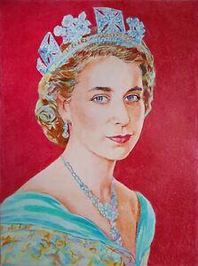 "11,69 × 15,75"" Elizabeth II ~Queen of the UK~ color pencil and paper"