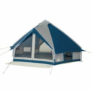 Ozark Trail 10-Person Festival Camping Tent w/6Windows,2 Doors, Covered Entryway