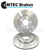 BMW E39 530d 98-09/00 Front Drilled Grooved Brake Discs