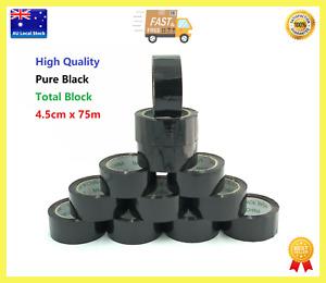 Black Packing Tape Sealing Tapes Masking Tape Pure Black Total Block 4.5cm x 75m