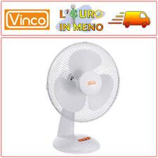 VENTILATORE DA TAVOLO VINCO 70601 BIANCO 3 PALE 40 WATT  3 VELOCITA'