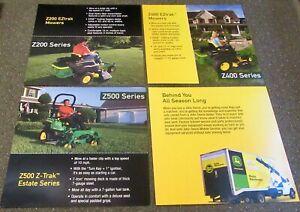 John Deere EZtrak Mowers And Mobile Service Color Promotional Posters (Lot of 4)