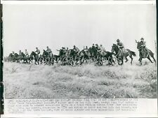 1941 Cavalry Troops Charge in War Games Original Wirephoto