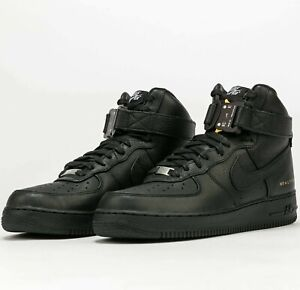 ALYX Nike Air Force 1 High CQ4018-001 Black Metallic Gold AF1 Shoes Sneakers