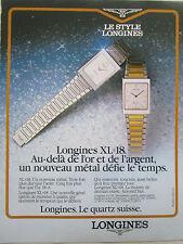 1980'S PUB MONTRE SWISS WATCH SUISSE LONGINES XL 18 ORIGINAL FRENCH AD