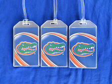 FLORIDA GATORS LUGGAGE TAGS 3-TAG SET - VORTEX GATOR LOGO - BAG NAME TRIP ID
