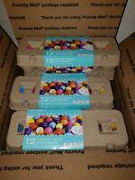 3 Dozen Multi-Colored Confetti Filled Eggs Cascarones (36 total) Cinco De Mayo