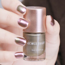 9ml NICOLE DIARY Gold Metallic Nail Polish Mirror Effect Metal Varnish