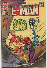 E-Man # 4 Fine   All New  City In The Sand  Charlton Comics  CBX4A
