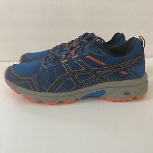 Asics Gel-Venture 7 Electric Blue Orange Running Training Shoes Men's Size 10