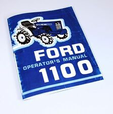 FORD 1100 OPERATORS OWNERS MANUAL TRACTOR MAINTENANCE CONTROLS OPERATION LUBE