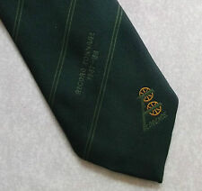Tonelaje de registro de Florencia 1987-88 Corbata Verde Retro Vintage 1980s de transporte de empresa