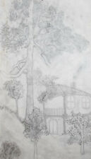 1999 Landscape pencil drawing signed