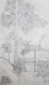 1999 Landscape pencil drawing signed