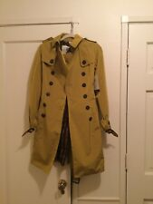 Burberry Prorsum Yellow Chartreuse Trench Coat US2