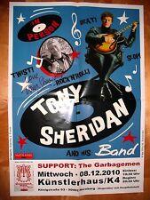 Plakat / Poster TONY SHERIDAN ( Beatles ) LIVE IN NUREMBERG 2010 - S I G N E D !