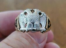 32nd Degree Freemason  Scottish Rite 10k gold eagle ring size 11 Beautiful Early