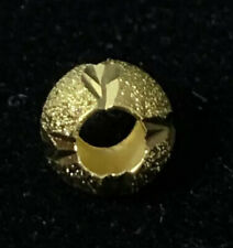 Large Hole Gold tone Etched Spacer Beads