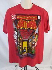 DC Comics Originals Super Hero Batman Mens XL Red Short Sleeve Tee T-Shirt CB33E