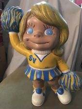 "1970's Vintage Atlantic Mold Cheerleader Statue SV NIKE 10"" Marcy Figurine Girl"