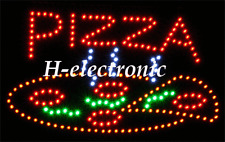 LED Schild open PIZZA Neon Reklame Blink  NEW Hell 55X32cm Animation Aperto