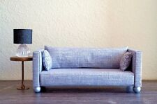 1:6 scale Doll/ Furniture Sofa in Light Grey Fabric