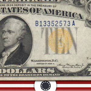 1934-A $10 NORTH AFRICA Silver Certificate WWII BILL  Fr 2309 B13352573A-UST