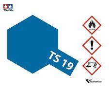 Tamiya PITTURA VERNICE SPRAY TS-19 METALLICO BLU LUCIDO CONTENITORE 100 ml 85019