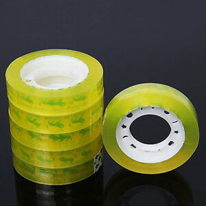 12Rolls 12mm*30m Clear Transparent Tape Sealing Packing Office School Stationery