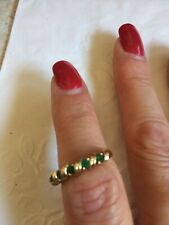 emerald ring size 7 yellow gold