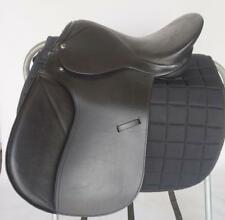 "16"" Wide BLACK AP Horse Saddle Youth English EVENT Hunt JUMP Sale Closeout +Pad"