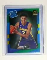 2017-18 Donruss Lonzo Ball Rated Rookie Card Laser Green And Yellow Parallel