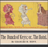 Charles H Hoyt 1800's The Hotel A Bunch of Keys in New York Victorian Trade Card