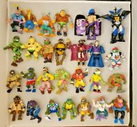 LOT OF 27: Vintage 1990s Playmates TMNT Figures Teenage Mutant Ninja Turtles