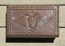 Vintage Russian Folk Art Carved Imperial Trinket Box Ornate Chip Carving