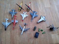 Matchbox, Maisto, Diecast Airplanes Aircraft Jets Helicopters Tanks, Lot of 12