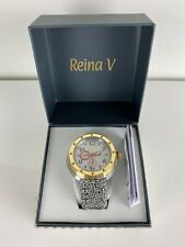 NEW IN BOX Reina V stainless steel Flash leather 17004.1 wrist watch