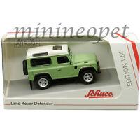 SCHUCO 45 201 8100 LAND ROVER DEFENDER 1/64 DIECAST MODEL CAR LIGHT GREEN