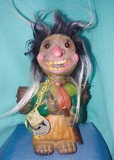 """Vintage HEICO Troll Doll 9"""" BOBBLE HEAD Nodder VOODOO JOE Wurzelsepp Germany"""