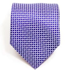 NWOT Brioni Geometric Blue/Purple Tie - Silk - Made in Italy