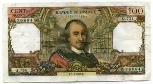 100 francs CORNEILLE   Q 734