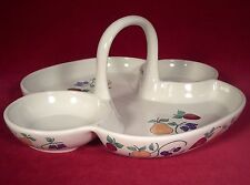 Princess House Orchard Medley Handled Divided Serving Tray Fruit & Leaves