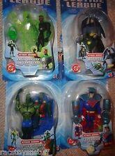 JUSTICE LEAGUE ATTACK ARMOR 4 FIGURE SET- SUPERMAN, BATMAN, MANHUNTER & LANTERN