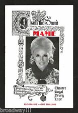 "Ginger Rogers ""MAME"" Jerry Herman / Margaret Courtenay 1969 London Playbill"