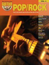 Pop Rock Sheet Music Guitar Play-Along Book and CD NEW 000699571