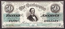 US CSA $50 1861 Confederate Currency T-16 (PF-14) VF-XF Choice (-570)